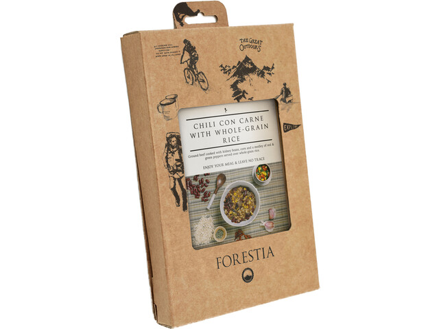 Forestia Heater Outdoor Mahlzeit Fleisch Chili con Carne with Whole-Grain Rice